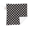 """Black Dot Mini Baby Blanket (12"""" x 12"""")"""