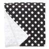 "Black Dot Large Baby Blanket (27"" x 29"")"