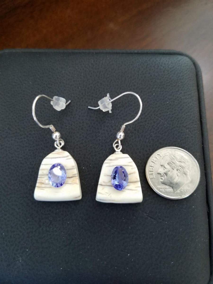 Earring Set - Tanzanite Purplish/Blue Oval Pair 2.21ct.