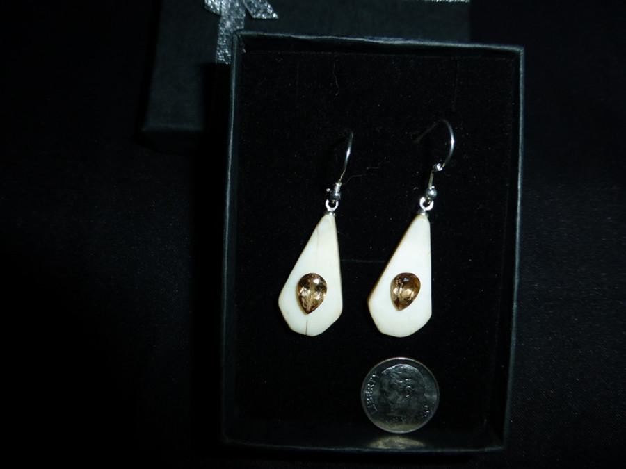 Earring Set - Axinite Pear Shaped Pair 2.58ct