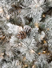 Close Up of Blue Spruce Pine Hard Needle Pine with Laser Glitter and Pine Cones
