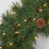 "C-71451 30"" PVC Pine Wreath with Clear Lights"