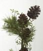 Plastic Pine Cones and Leaf Vine Wrap
