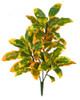 "35"" Poly UV Croton Bush Green/Yellow"