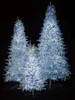 Lighted Park Avenue Trees - 5' , 7.5' and 9' Tall with Blue and White Twinkling Lights