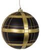 """8"""" Plaid Ball Ornament"""