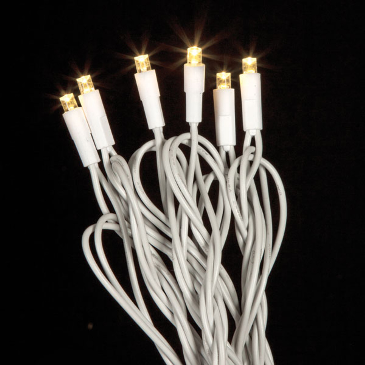 5mm Warm White LED Light Strand - Brown Wire   Wholesale LED Lights
