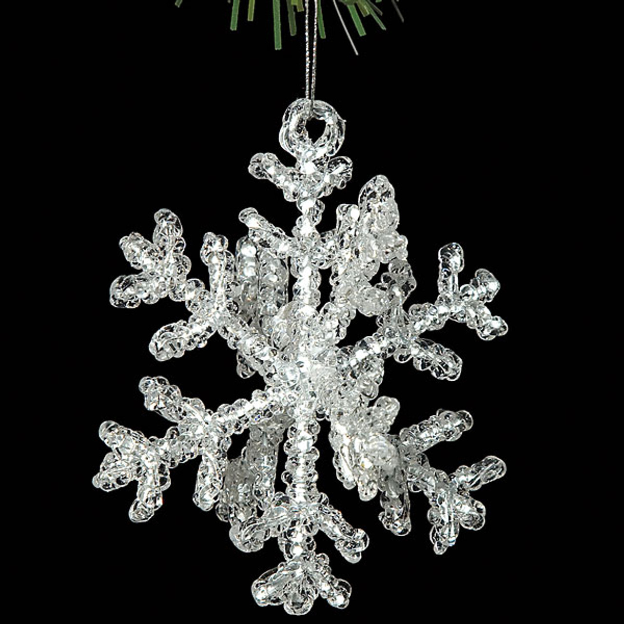 Acrylic D Snowflake Ornament Clear D Snowflake Ornaments Bulk - Acrylic chandelier crystals bulk