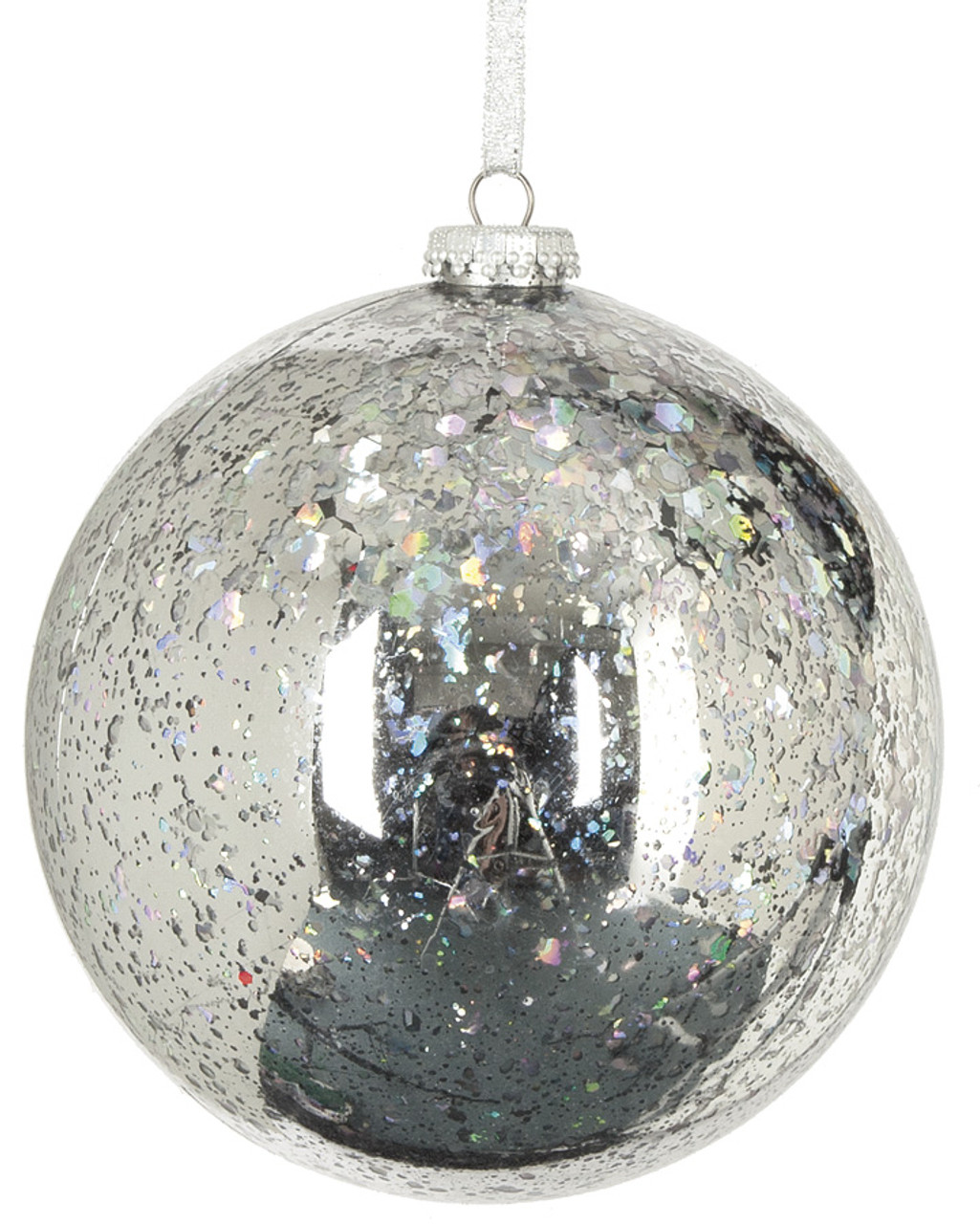 j 160075 6 shiny sequined ball silver