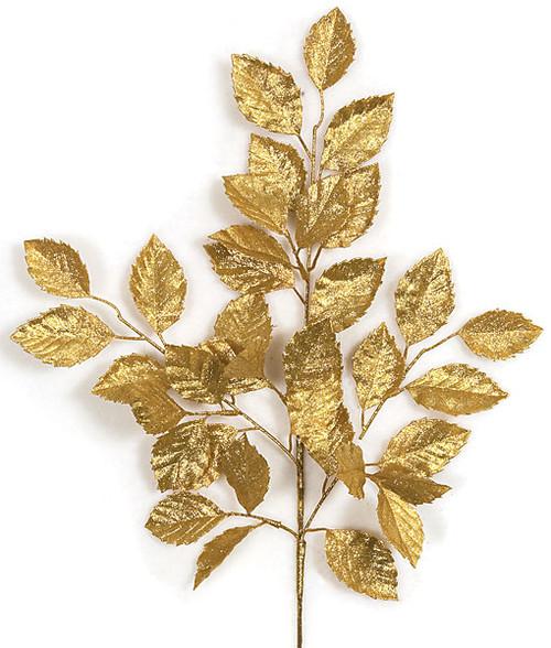 24 Inch Glittered Apple Spray - Gold