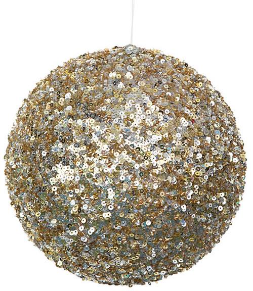 """J-110085 6"""" Gold/Silver Ball Ornament"""