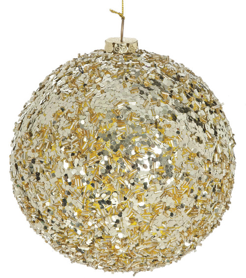 "6"" Sequined Ball Light Gold"