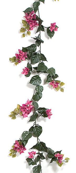 9.5 Foot Outdoor Bougainvillea Garlands - 6 Colors