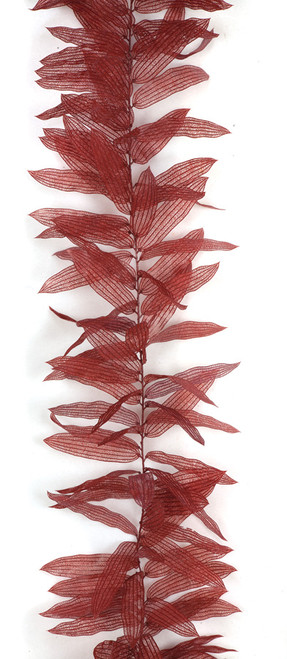 9 Foot Lace Leaf Garland - Green, Rust/Red
