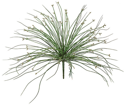 18 Inch Grass Bush - Green/Grey