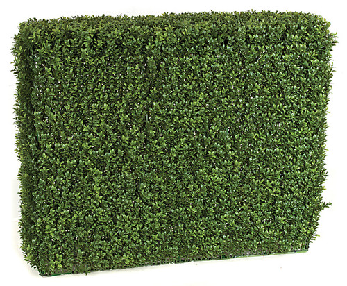 35 x 11 x 30 Inches Outdoor Boxwood Hedge - New Leaf Style