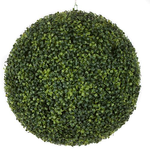 "20"" Boxwood Ball Traditional LeafTutone Green"