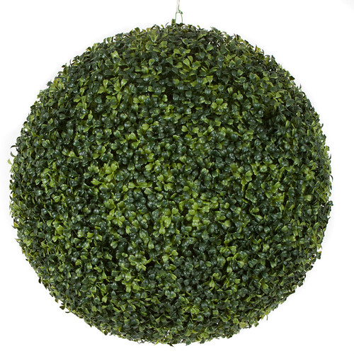 20 Inch Outdoor Boxwood Ball - Traditional Leaf