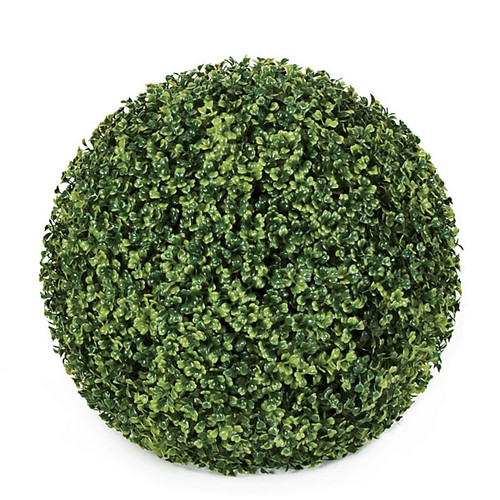 14 Inch Outdoor Boxwood Ball - Traditional Leaf