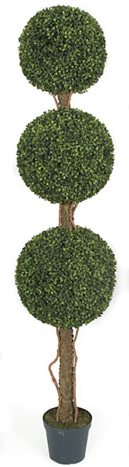 60 Inch Boxwood Topiary Synthetic Trunk 
