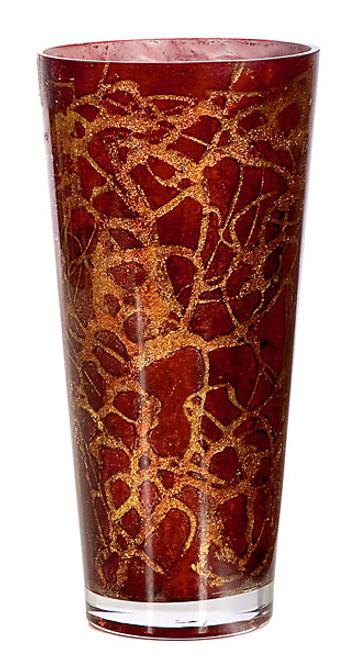 9.75 Inch Glass Vase 