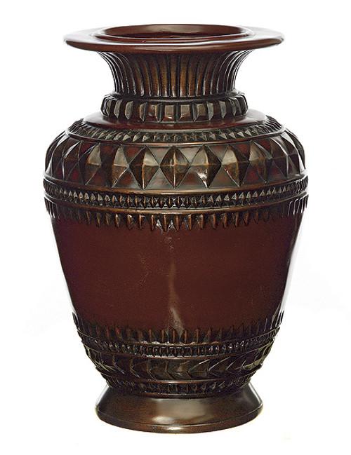 18 Inch Large Wood Tone Vase