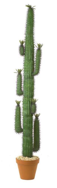 8' Plastic Saguaro Cactus Plant