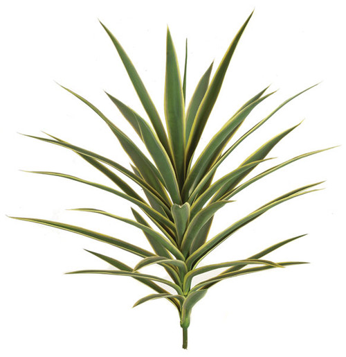 """AUV-102105 - Green with Yellow Edge30"""" Plastic Yucca Plant - Limited UV Protection"""