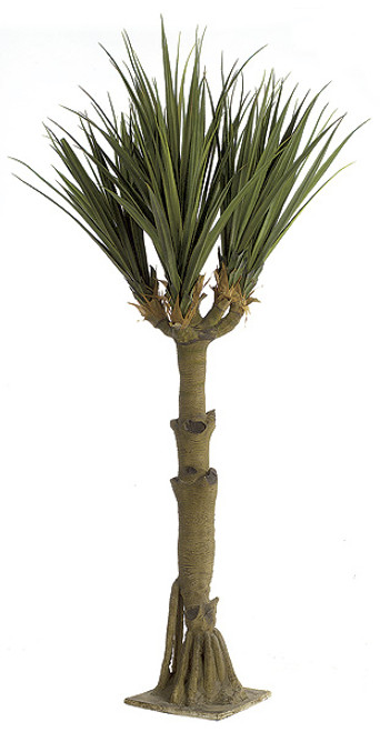11 Foot Large Yucca Tree x 6 with Fiberglass Trunk and Base