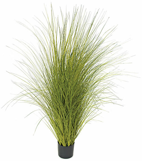 "60"" PVC Onion Grass - Green/Yellow"
