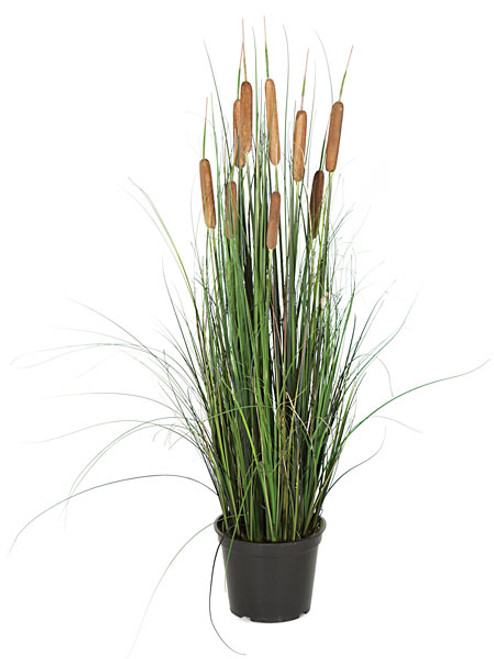 "36"" Cattail and PVC Onion Grass Bush"