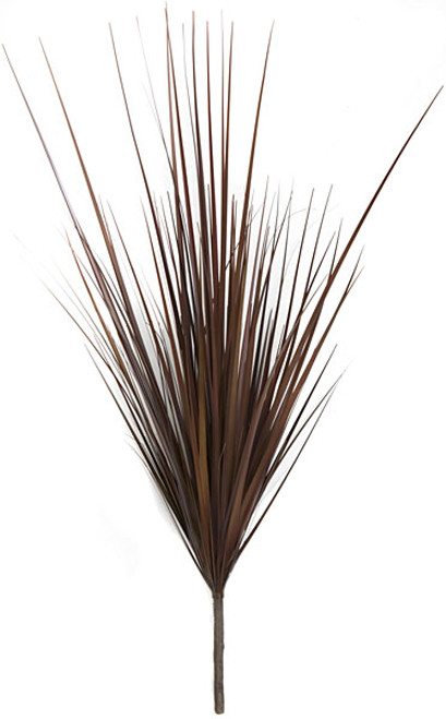 32 Inch PVC Grass Bush - Burgundy