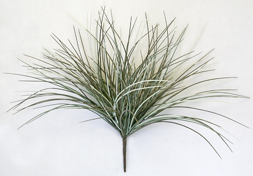 19 Inch Plastic Onion Grass Bush- Rust, Grey, Black