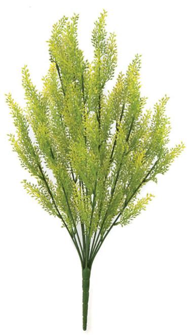 19 Inch Artificial Verbena Bush - Green/Yellow