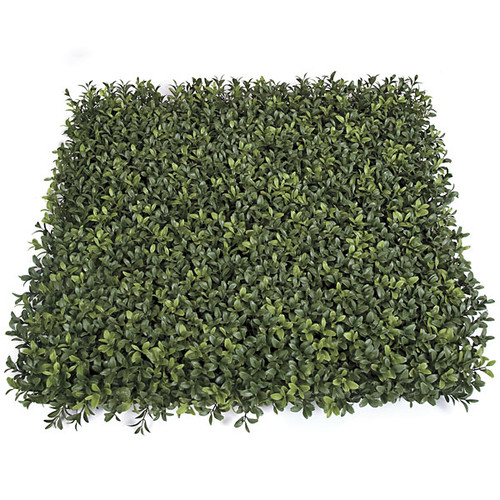 "20"" x 20"" x 3"" New Leaf Style - Plastic Boxwood Mat - Limited UV Protection and Fire Retardant"