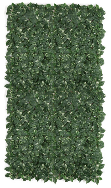 8' x 4' Silk Pothos Grid on wire frame - 8 feet long x 4 feet wide - Green/Cream - Fire Retardant