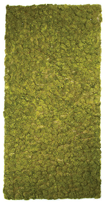 "A-130470 71"" x 36"" Artificial Moss Mat - Tutone Green"