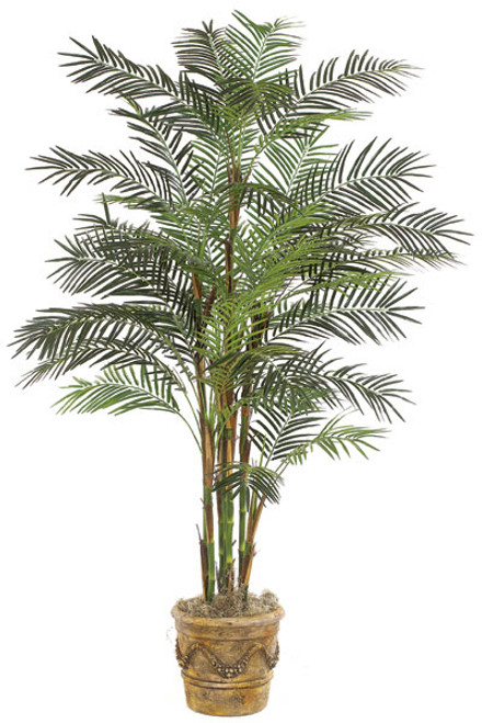P-3772 7' Reed Palm Tree - 37 Fronds - Weighted Base - Decorative Pot Sold Separately