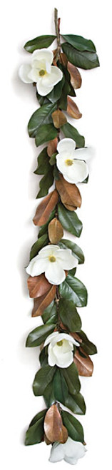 """P-11366070"""" Magnolia Garlandwith White Flowers10"""" Approx. Width"""