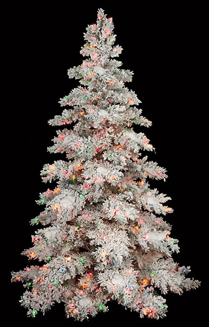 Artificial Flocked Snow Trees Wholesale Flocked Xmas Trees