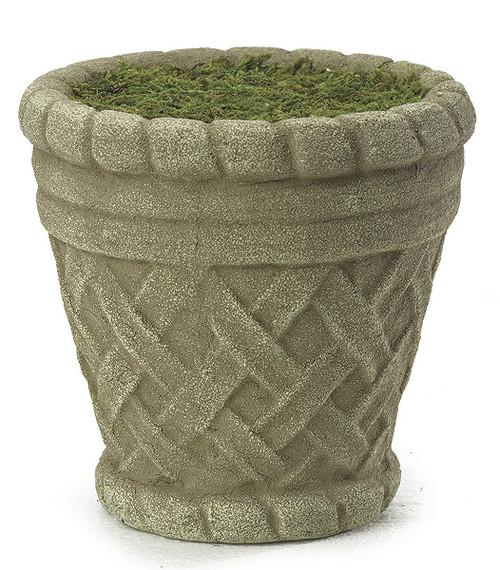 "D-604616.5"" Round Foam Pot w/MossStone"