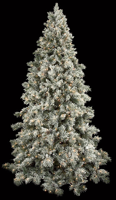 C-705149 ' Light Frosted/Glittered Blue Spruce with Pine Cones and LED Lights