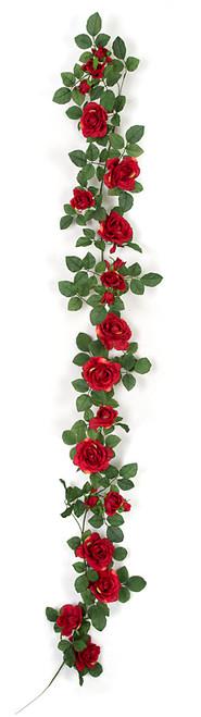 PR-150206 - Red FlowersFire Retardant Rose Garland
