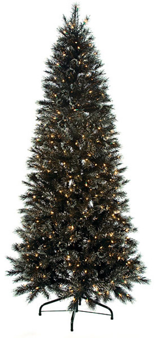 c 80451 75 black glitter pine tree - Wholesale Artificial Christmas Trees