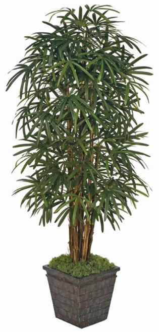 W-602607' Lady Palm TreeDecorative Planter Sold Separately