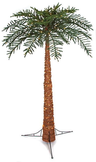 10 Foot Prelit PVC Royal Palm Tree