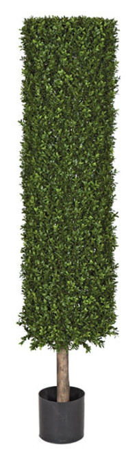 4.5 Foot or 7 Foot -Outdoor UV Boxwood Cylinder Topiary on Natural Trunk