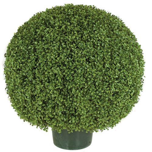 20 Inch, 24 Inch, 30 Inch - UV Boxwood Ball Topiary