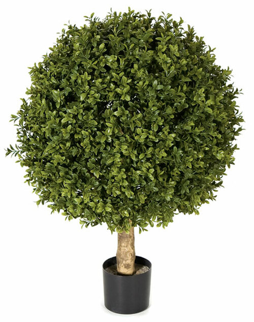 24 Inch UV Boxwood Ball Topiary