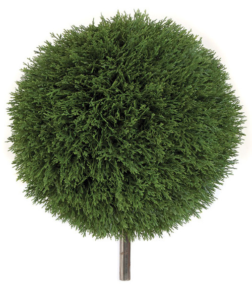 """AUV-12312018"""" UV Cedar Ball Topiary with Steel Pipe"""